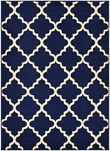 Trellis Area Rug Rugs Contemporary Modern Lattice Design Area Rug Rugs 5 Color Options Available Navy Blue