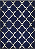 Trellis Area Rug Rugs Contemporary Modern Lattice Design Area Rug Rugs 5 Color Options Available (Navy Blue, 7'10