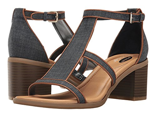Dr. Scholl's Women's Shine Heeled Sandal, Denim, 9 M US