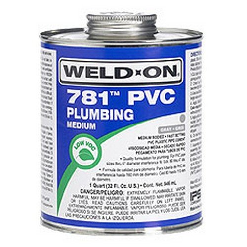 Clear Pvc Cement (Weld-On 14008 1/2 Pint 781 Medium Body PVC Cement, Clear, 1-Pack)