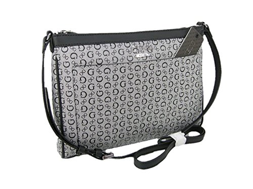 3208ad19aaa1 New Guess G Logo Purse Cross Body Shoulder Hand Bag Black Gray No Trouble -  Buy Online in UAE.