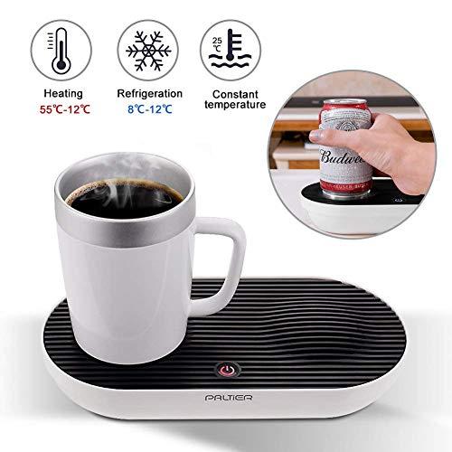 Warmer & Cooler Desktop Smart Cup, V-joy 2-in-1 Desktop Cooler Warmer Cup Coffee Mug For Home Office and Personal Health Care (Smart Cup Set) (Global Warming Coffee Mug)