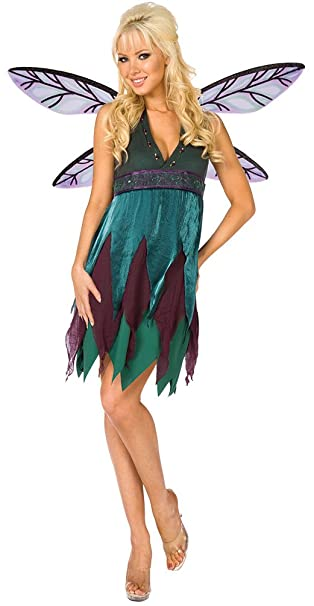 Karneval Klamotten Kostum Elfe Fee Waldfee Damen Sexy Kleid Inkl