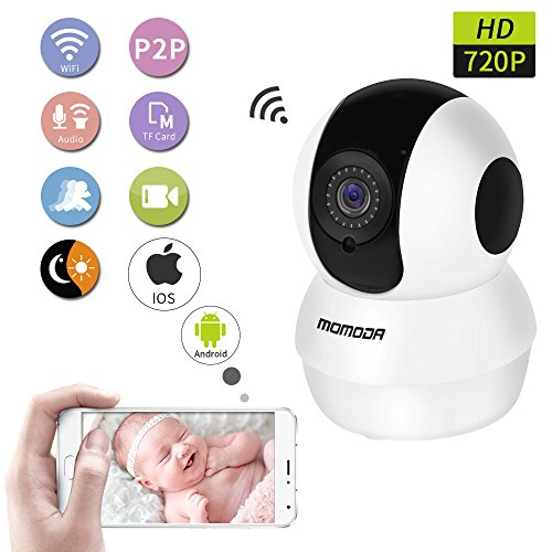 MOMODA IP Camera Pan/Tilt Wireless IP Camera Night Vision Ca