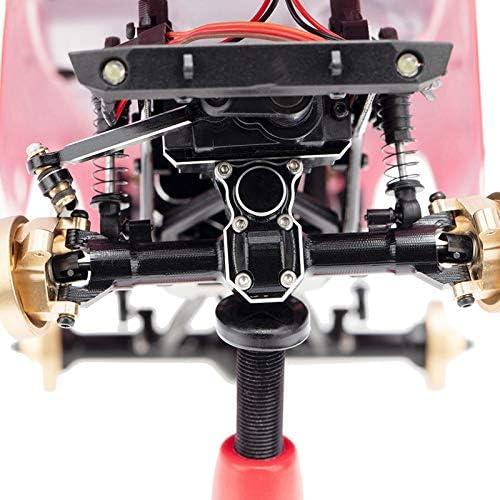 Tamkyo f/ür 1//24 RC Crawler Auto Axial SCX24 90081 AXI00002 Teile Metall Vorder und Hinter Achse Diff Abdeckung Upgrade Zubeh?R