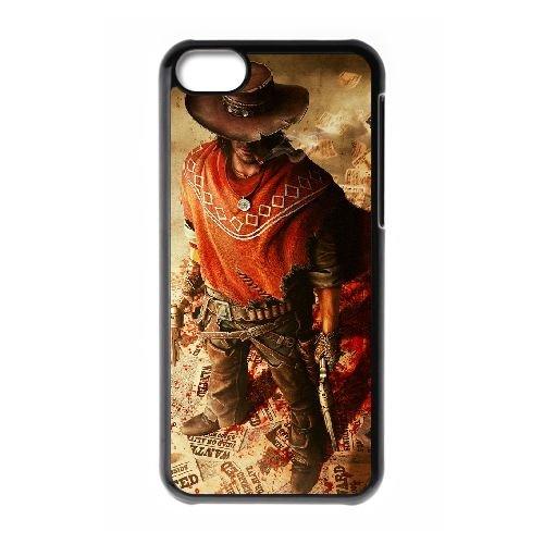 T8N84 Call of Juarez Gunslinger B8V4GD cas d'coque iPhone de téléphone cellulaire 5c couvercle coque noire XD8MIF8LF