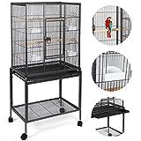 Giantex Bird Parrot Cage Chinchilla Cockatiel Conure Large Cockatiel House Metal Wheels