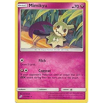 Rare 112//181 Pokemon: Mimikyu Reverse Holo Sun /& Moon: Team Up