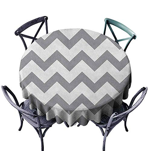G Idle Sky Grey Fitted Tablecloth Grey and White Chevron Pattern Classic Geometrical Horizontal Zig Zag Stripes Retro Easy Care D47 Grey White (Napkins Paper And White Grey Chevron)