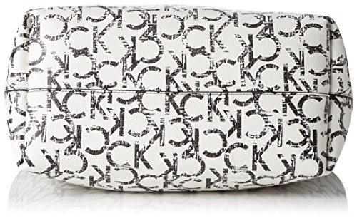 Calvin Klein IS4 Large Reversible Tote, Sacchetto Donna, Bianco (Ck Print), 16x30x33 cm (b x h x t)
