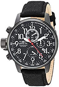 Invicta Men's 1517 I Force Collection Left-Handed Stainless Steel Watch with Cloth Strap