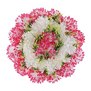 Baoblaze Artificial Handcraft Carnation Flower Arrangements in Grave Cemetery Wreath Flower 4
