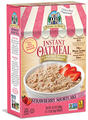 Bakery On Main Instant Oatmeal, Strawberry Flavor, 10.5-Ounce (Pack of 3)