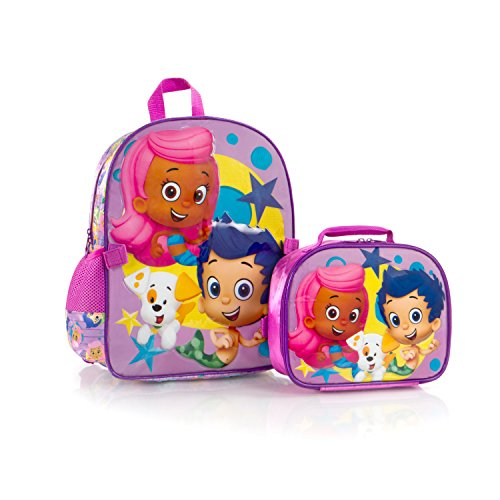 New Bubble Guppies Backpack with Lunch Bag for