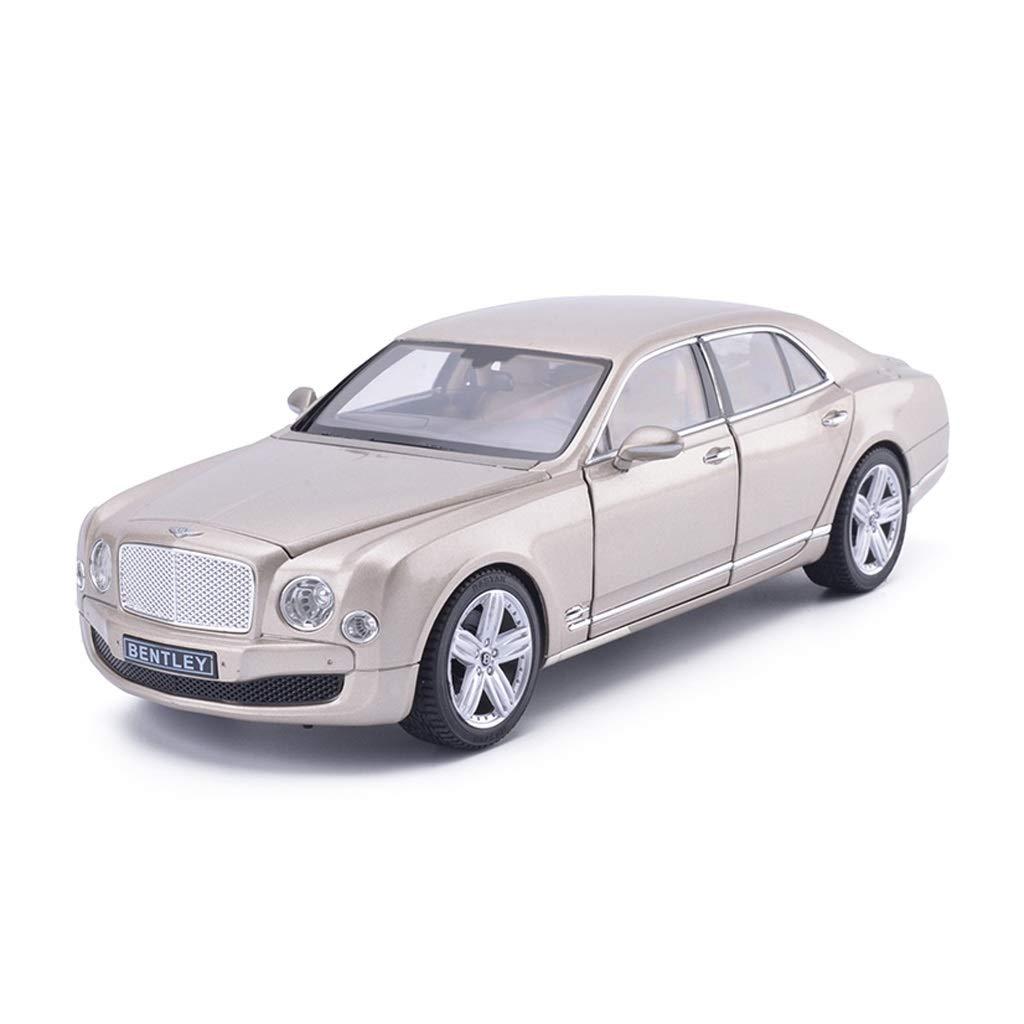 Auto Modello Modello Auto Bentley Mushang Modello in Scala 1 18 Modello Die-Casting Modello in Lega Modello Collezione di Gioielli Decorazione Regalo ( Colore   oro )