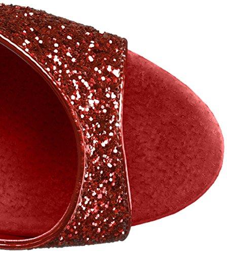 Pleaser Sandalias de vestir de Material Sintético para mujer Red Gltr/Red Gltr