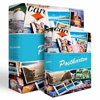 - Lighthouse postcard album with 50 clear pocket sheets for up to 200 postcards