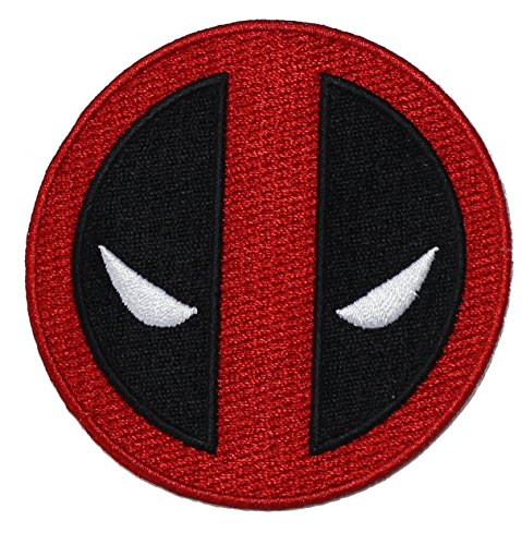 "Marvel Comics 4"" Deadpool Logo Application Embroidered Iron/Sew-On Patch"