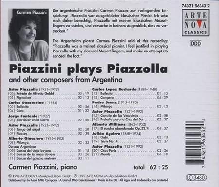 Piazzini spielt Piazzolla und andere argentinische Komponisten ...