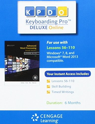 Keyboarding Pro Deluxe Online Lessons 56-110 6-Month Printed Access Card