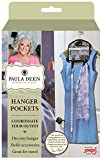 Paula Deen Hanger Pocket Organizer & Storage, Hanging Accessory Holder Fits All of Your Outfit Accessories - Organize Daily Clothing and Wardrobe - Coordinating a Scarf, Handbag, Jewelry and Clothing