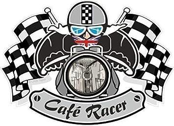 Retro Cafe Racer Tonelada para Arriba British Motociclista ...
