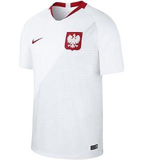 97847877d Nike 2018-2019 Poland Core Pique Polo Football Soccer T-Shirt (White ...