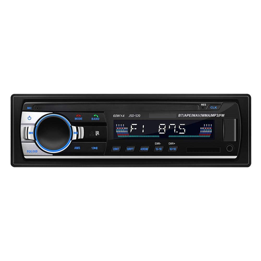Biback Esté reo para automó vil Bluetooth, Radio para automó vil Audio Reproductor USB/SD / FM / MP3 Manos Libres Reproductor esté reo MP3 Reproductor de Radio Entrada Auxiliar Receptor DIN 4 x 60W