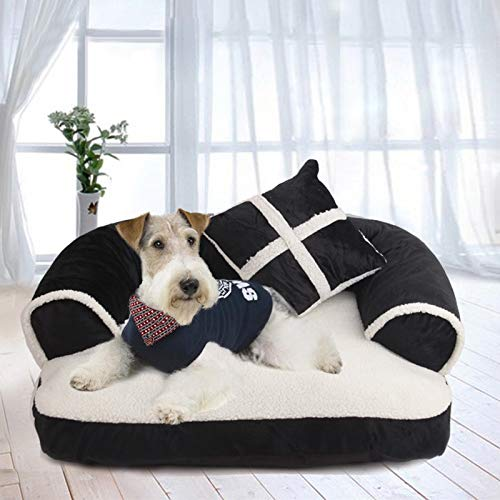 Flyingpets Dog Pillow Bed - Dog Bed Pillow - Large Dog Bed Pillow - Warm Removable Dog Bed House for Large Dog Soft Cotton Dog Cushion Mat Big Size Pet Bed Cat Dog Pillow Sofa Kennel Labrado. by Flyingpets (Image #1)