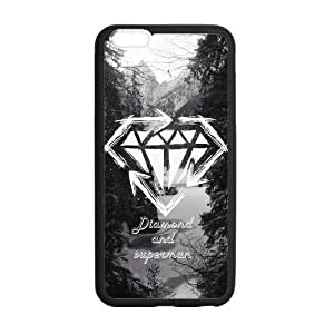 Diamond Crystal Pattern Solid Rubber Customized Cover Case for iPhone 6 4.7