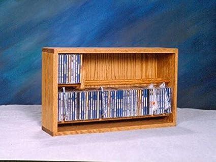 Wood Shed Tacos de madera cobertizo de roble macizo armario para CD de clara