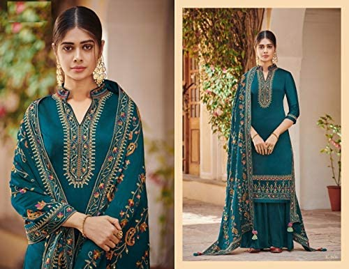 Hand Work Embroidery Bollywood Designer Straight Cut Salwar Suit Palazzo Hijab Women S Indian Pakistani Wedding Festival Collection Eid 7944 Buy Online At Best Price In Uae Amazon Ae,Popular Fashion Designer Brands