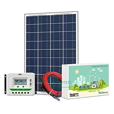 Unlimited Solar P3 Series 85 Watt 12 Volt Off-Grid Solar Panel Kit