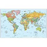 rand mcnally signature map of the world 50 x 32 inch