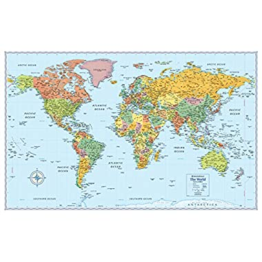 Rand McNally Signature World Wall Map - Laminated