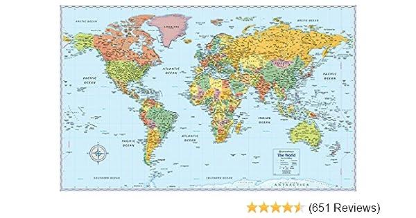 Rand mcnally signature map of the world 50 x 32 inch rand mcnally rand mcnally signature map of the world 50 x 32 inch rand mcnally 0070609012797 amazon books gumiabroncs Choice Image