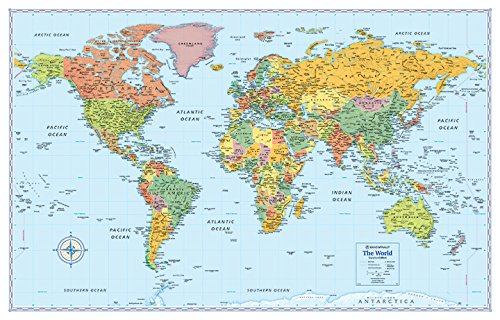 Rand McNally Signature Map of the World, 50 x 32-Inch cover
