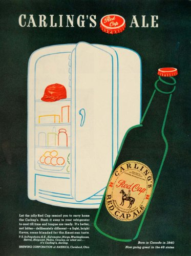 1947-ad-carlings-red-cap-ale-beer-bottle-refrigerator-original-print-ad