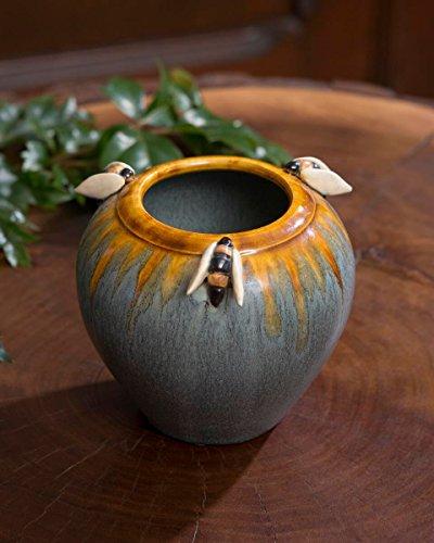 Bees Cabinet Vase (Ephraim Faience Pottery)
