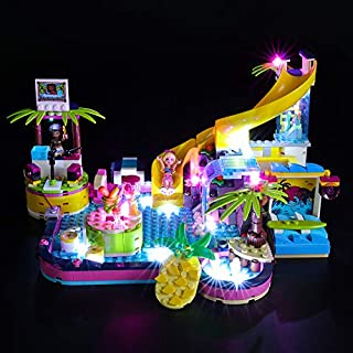 BRIKSMAX Led Lighting Kit for Andrea's Pool Party - Compatible with Lego 41374 Building Blocks Model- Not Include The Lego Set