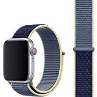MARGOUN Nylon Sport Band for Apple Watch 44mm 42mm, Soft Replacement Strap for iWatch Series 6/ SE/ 5/4/3/2/1 (Alaskan…