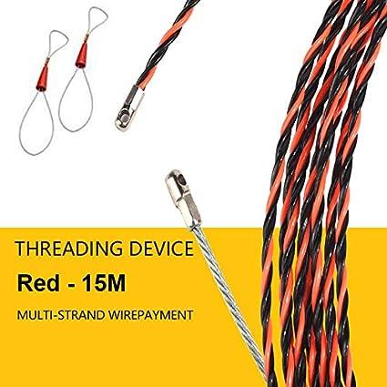 20 m Proglam Elettricista Cavo Threading Dispositivo Running estrattore Porta con Corda in Acciaio 2PCS connettore Blue