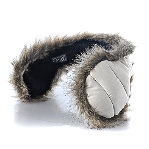 (180s Down With Fur Behind The Head Ear Warmer (White))