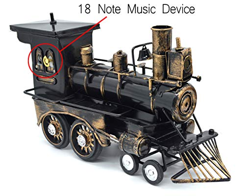 Sooye Diecast Model Locomotive Classic Locomotive Collectible Model Train Classic with Music Box Home Decor (Locomotive)