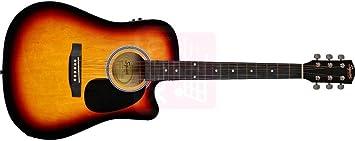 Fender SQUIER SA-105CE NT Westerngitarre mit Tonabnehmer Dreadnought Cutaway