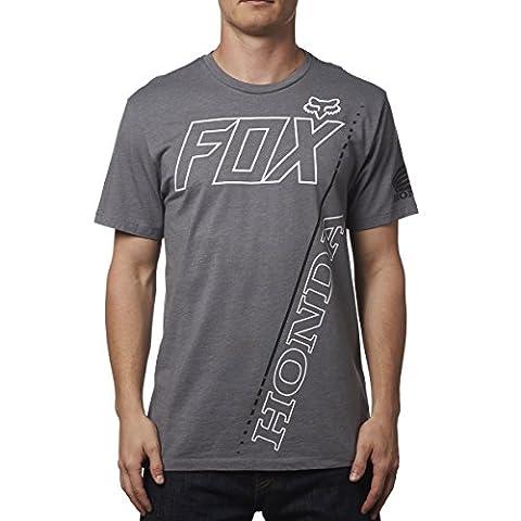 Fox Racing Honda Premium T-Shirt-Heather Graphite-S (Fox Mx Shirts)