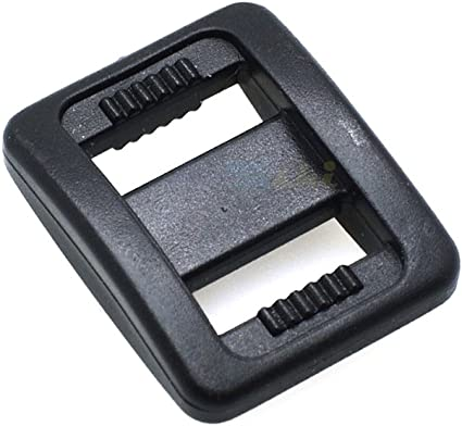 """3//8/"""" Webbing Plastic Black Tri-Glide Slider Adjustable Buckle Backpack Straps"""