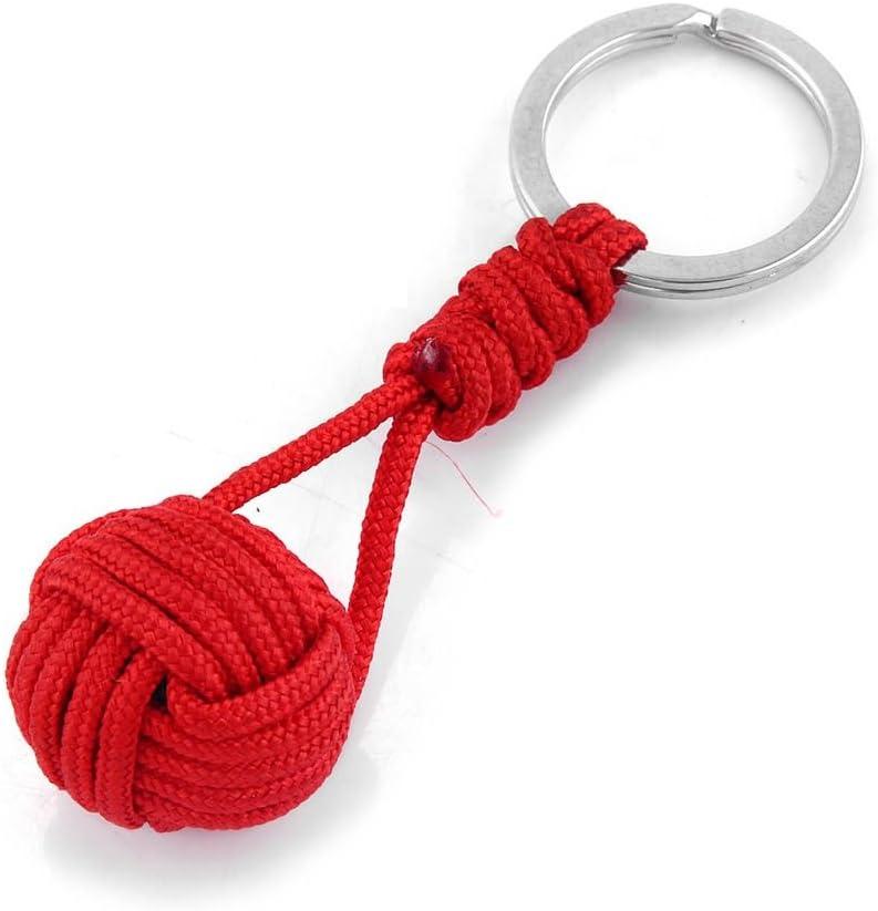 Douerduyuu - Llavero de cuerda de poliéster con colgante de bola, Rojo, 8x2.1cm: Amazon.es: Hogar