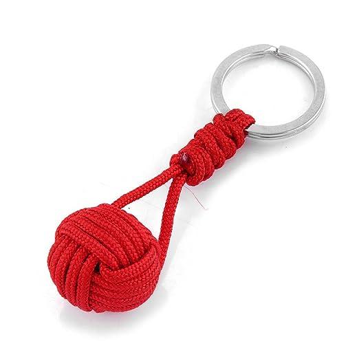 Qsoleil Cuerda para Telar Llavero (poliéster Pelota Keyring ...