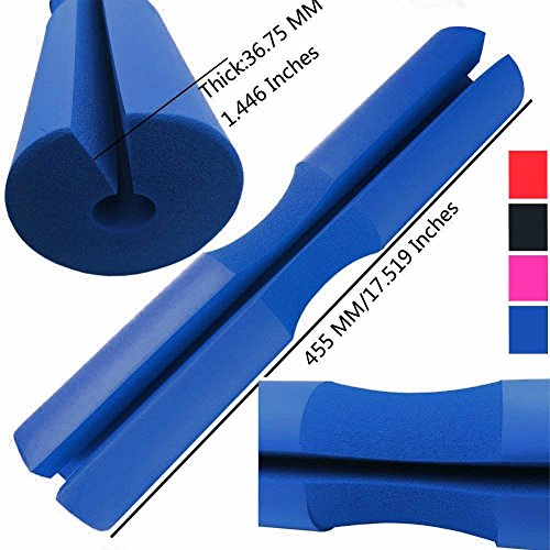 Cheap Greententljs. Squat Pad Barbell Pad, Hip Thruster Pad Soft Form Sponge, Olympic and Standard Bar Pads, Neck & Shoulder Support Protector While Training for Hip Thrusts/Lunges/Weight Lifting (Blue)